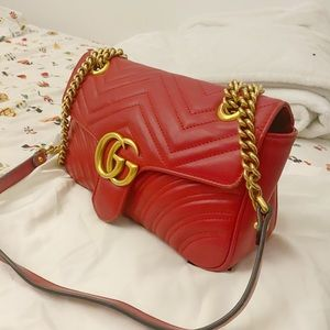 Gucci- GG Marmont Small matelassé shoulder bag